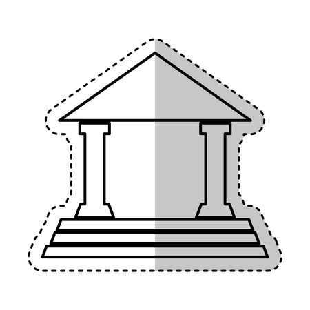 classical theater: house court isolated icon vector illustration design