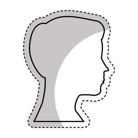 head man profile icon vector illustration design