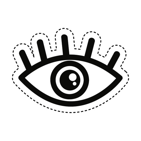 eye symbol security icon vector illustration design vector illustration design