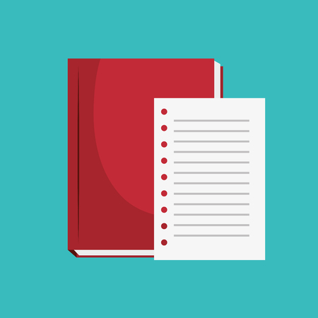 notebook paper: notebook paper office icon vector illustration design