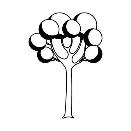 tree plant isolated icon vector illustration design Illustration