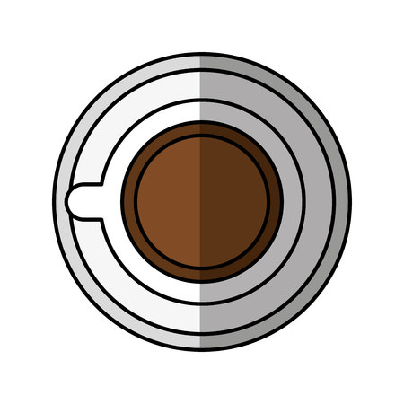 coffe break: coffee cup drink isolated icon vector illustration design Illustration