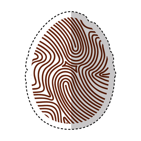 odcisk kciuka: finger print isolated icon vector illustration design Ilustracja