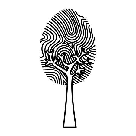 fingermark: finger print isolated icon vector illustration design Illustration