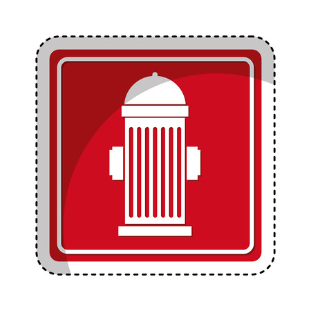 firealarm: hydrant sign isolated icon vector illustration design