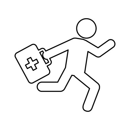 paramedic: paramedic running isolated icon vector illustration design