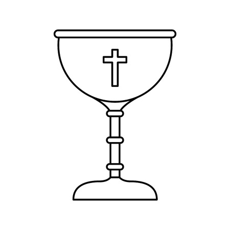 chalice first communion icon vector illustration design