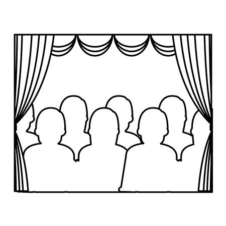 theater courtain show icon vector illustration design Illustration