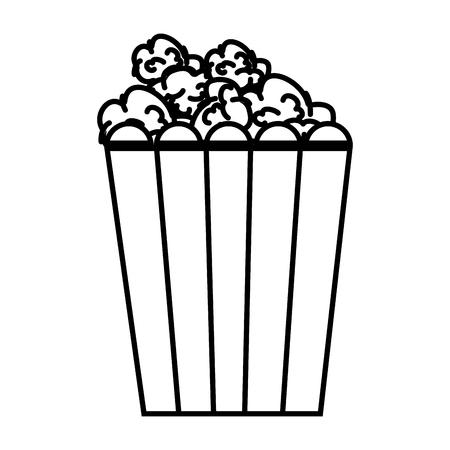 ポップコーン食品アイコン ベクトル イラスト デザイン