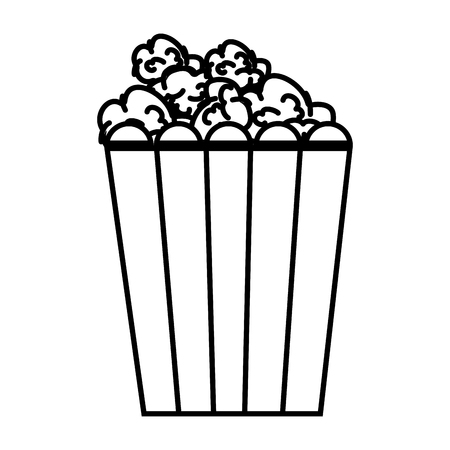 pop corn food icon vector illustration design Illustration