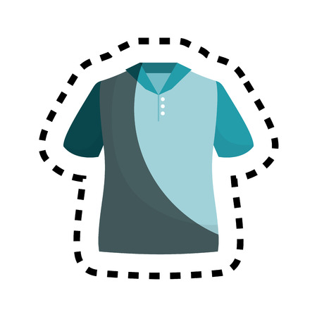 shirt silhouette isolated icon vector illustration design