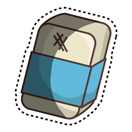 erased: eraser tool school isolated icon vector illustration design