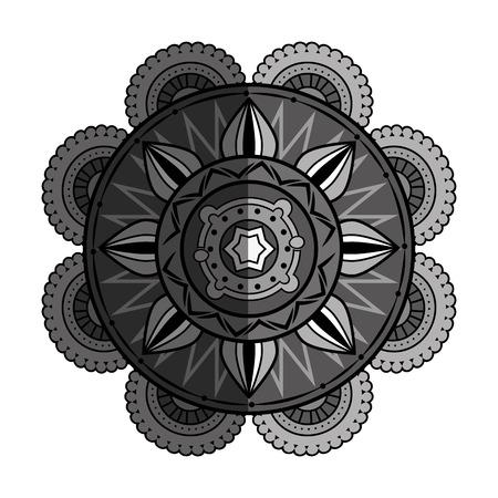 ritual: mandala art decorative icon vector illustration design