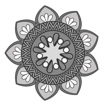 mandala art decorative icon vector illustration design