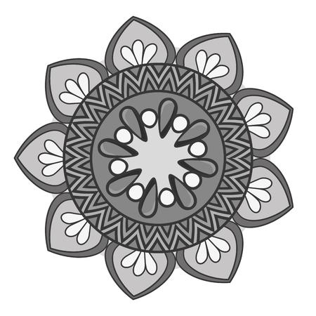 mandala art decorative icon vector illustration design
