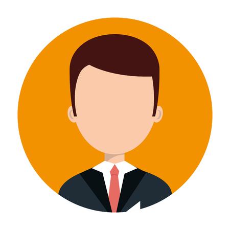 hotel staff: hotel receptionist character icon vector illustration design Illustration