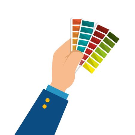 pallette: couleurs pallette cartes de conception icône vecteur illustration