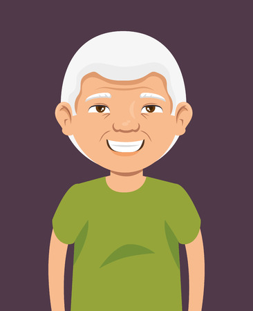 grandpa avatar character icon vector illustration design Illustration