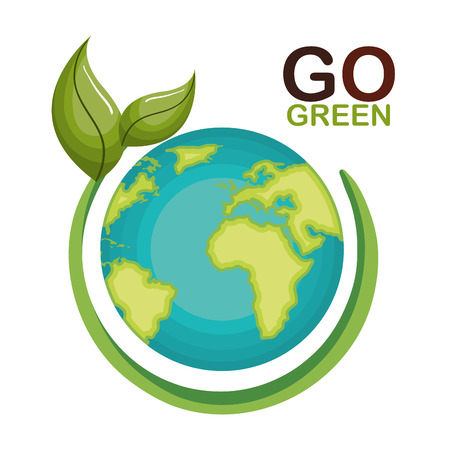 go green ecology poster illustration design