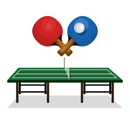 table tennis  sport emblem icon illustration design Illustration