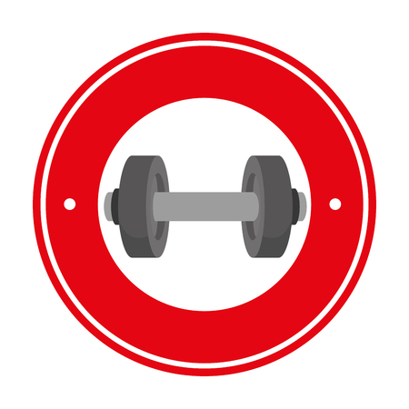 weight lifting fitness lifestyle illustration design Illustration
