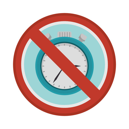 prohibited sign chronometer watch isolated icon illustration design Illustration