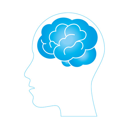 brain storming isolated icon illustration design