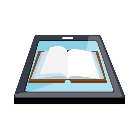 electronic book: electronic book technology icon vector illustration design