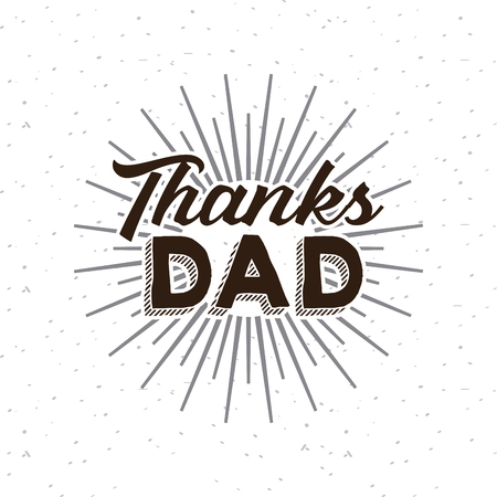 macho: happy fathers day card. colorful design. vector illustration Stock Photo