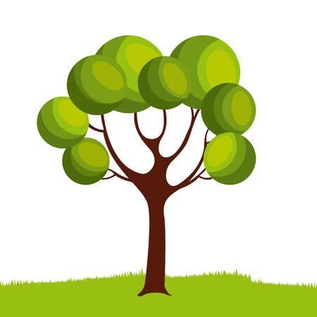 grünes Baum-Symbol auf weißen Hintergrund. bunter Entwurf. Vektor-Illustration