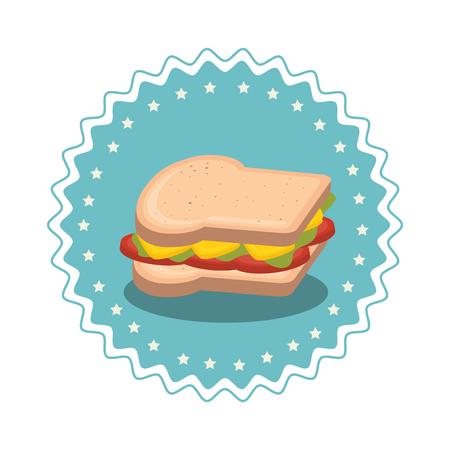 sandwish: sandwish fast food icon vector illustration design