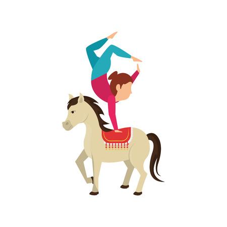 Circus juggler show icon vector illustration design
