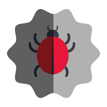 cybercrime: virus infection bug icon vector illustration design