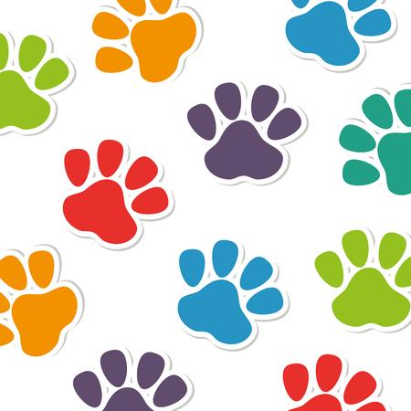 footmark: foot print animal pattern vector illustration design Illustration