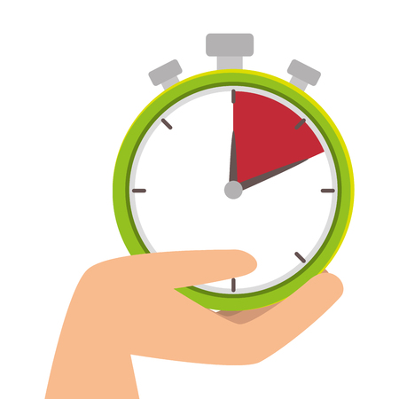 chronometer watch isolated icon vector illustration design Illustration