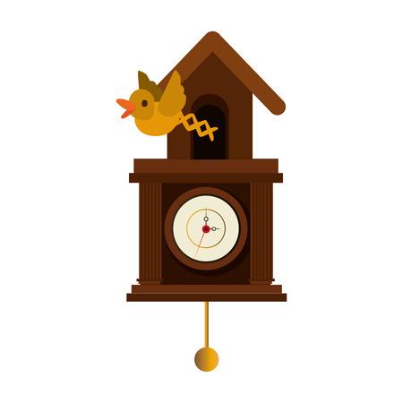reloj cucu: cuckoo watch time isolated icon vector illustration design