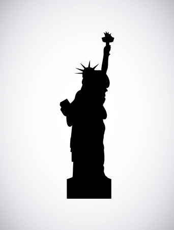 liberty statue icon over white background. travle and tourism design. vector illustration