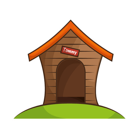 dog house isolated icon vector illustration design