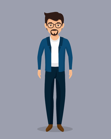 stereotype: businessman character avatar isolated vector illustration design