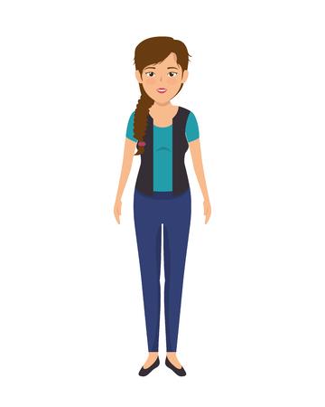 businesswoman character avatar isolated vector illustration design