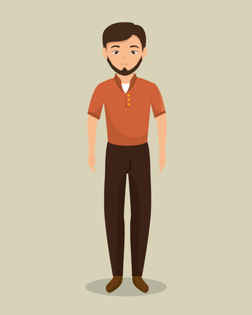 businessman character avatar isolated vector illustration design