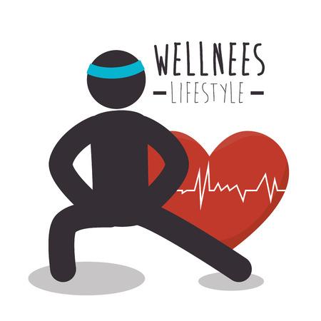 healthy heart cardio icon vector illustration design Vektorové ilustrace