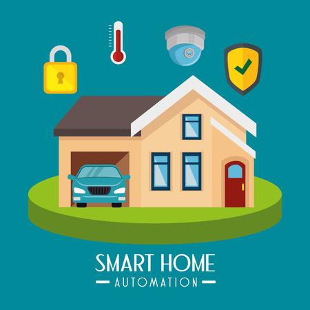 smarthome technology isolated icon vector illustration design Illustration