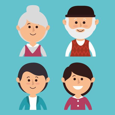 leuke familie groepsleden vectorillustratieontwerp