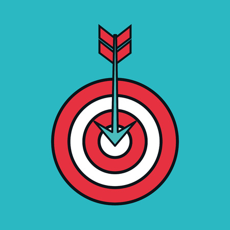 excellence: target arrow isolated icon vector illustration design Illustration