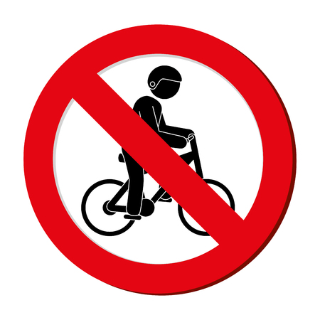 prohibited sign bicycle Extreme sport athlete avatar vector illustration design