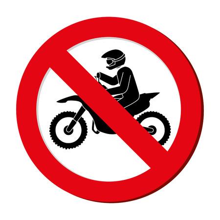 prohibido: Muestra prohibida extrema atleta deporte ilustración avatar del vector de diseño