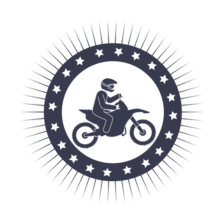 Extreme sport athlete avatar vector illustration design