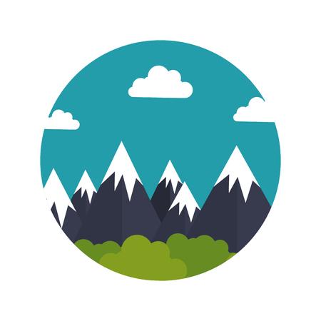 mountain emblem isolated icon vector illustration design