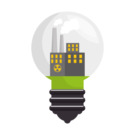 chemical hazard: nuclear energy isolated icon vector illustration design Illustration